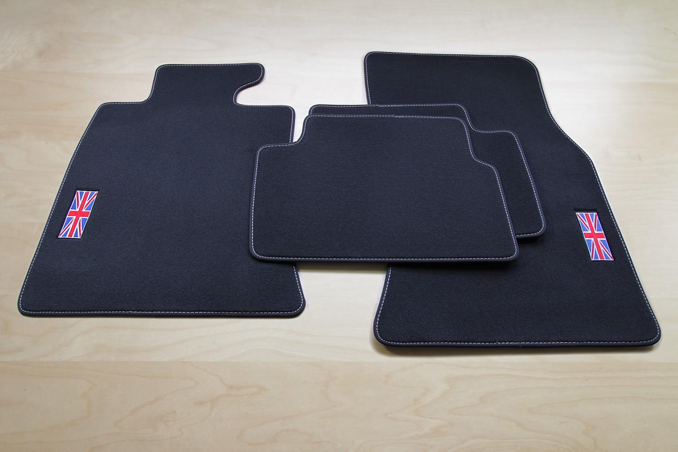 totale exclusivit union jack mini clubman r55 tapis de sol depuis 2007 ebay. Black Bedroom Furniture Sets. Home Design Ideas